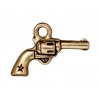Charm Six Shooter 19.5mm Antique Gold